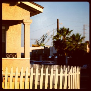 Pollution and picket fences.